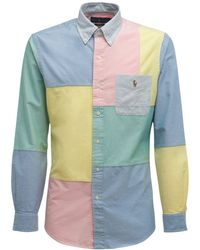 Polo Ralph Lauren パッチワークコットンクラシックオックスフォードシャツ - マルチカラー