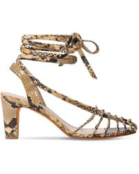 Maryam Nassir Zadeh 90mm Snake Printed Leather Sandals - Multicolour