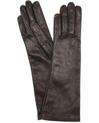 Mario Portolano Long Nappa Leather Gloves - Black