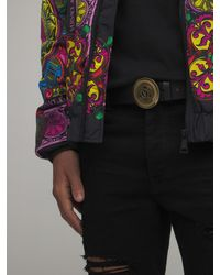 Versace Jeans Couture レザーベルト - ブラック