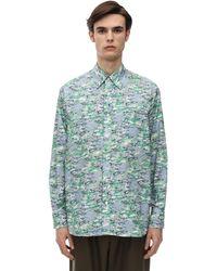 Marni Рубашка Из Хлопкового Поплина - Синий