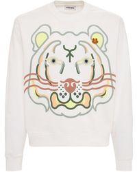 """KENZO Sweatshirt Aus Baumwolle """"wwf"""" - Weiß"""