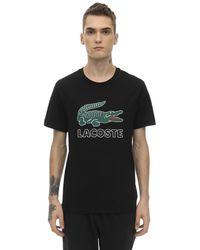 Lacoste Crocodile コットンジャージーtシャツ - ブラック