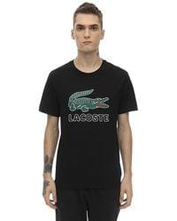 Lacoste T-shirt con stampa - Nero