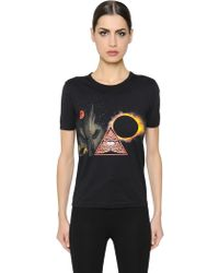 Givenchy - Surreal Printed Cotton Jersey T-shirt - Lyst