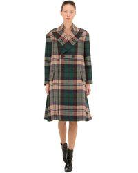 Vivienne Westwood Virgin Wool Plaid Coat - Green