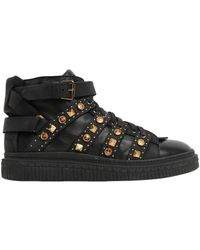 Fausto Puglisi | Studded Leather Mid Top Sneakers | Lyst