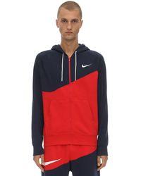 Nike Nsw Swoosh Fz Ft Cotton Blend Hoodie - Blau