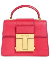Tom Ford Mini Leather Top Handle Bag - Multicolour