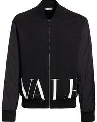 Valentino Нейлоновая Куртка Из Джерси - Черный