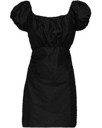 Sir. The Label Valetta Silk Taffeta Mini Dress - Black