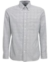 Tom Ford Cotton Prince Of Wales Leisure Shirt - Grey
