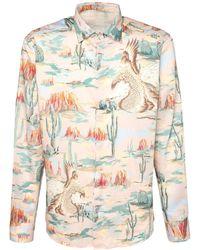 Etro Хлопковая Рубашка С Принтом - Многоцветный