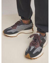 """New Balance Sneakers Aus Stoff Und Wildleder """"327"""" - Grau"""