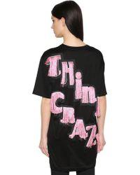 Marco De Vincenzo - Think Crazy Cotton Jersey Long T-shirt - Lyst