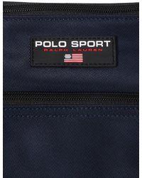Polo Ralph Lauren Gürteltasche Aus Nylon Mit Logo - Blau