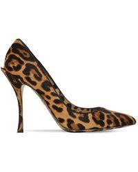 Dolce & Gabbana Lori ヘアカーフ レオパードプリントパンプス 90mm - ブラウン