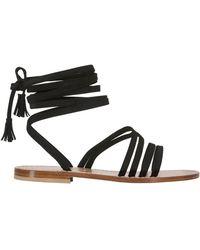 Capri Positano - 10mm Appia Braided Suede Sandals - Lyst