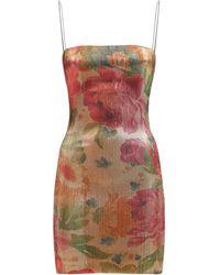 Bec & Bridge Мини-платье С Принтом Bella Rose - Многоцветный