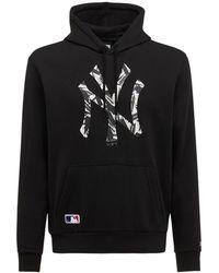 KTZ Cotton Blend Ny Yankees Logo Hoodie - Black