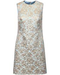 Dolce & Gabbana - ジャカードラメミニドレス - Lyst