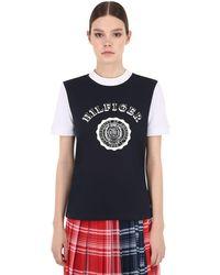 Tommy Hilfiger ロゴプリント コットンジャージーtシャツ - ブラック