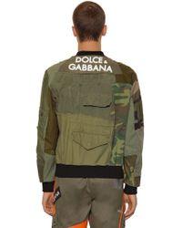 Dolce & Gabbana - Patchwork Military Jacket W/ 3d Logo - Lyst