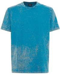 DIESEL Marble コットンジャージーtシャツ - ブルー