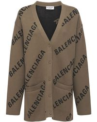 Balenciaga コットンブレンドニットカーディガン - マルチカラー