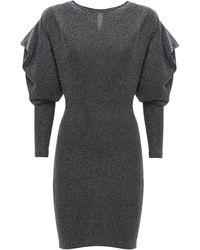 Isabel Marant Платье Из Люрекса Waden - Металлик