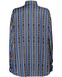 Balenciaga - Рубашка В Полоску С Логотипом - Lyst