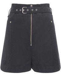Étoile Isabel Marant Parana Heavy Cotton Shorts - Black