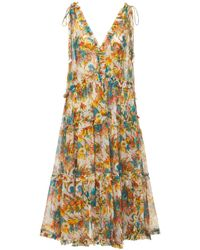 Zimmermann Платье Из Шелка С Принтом - Многоцветный