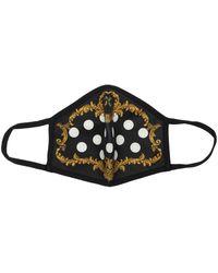 Dolce & Gabbana Pois Baroque プリントマスク - ブラック
