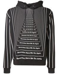 Paco Rabanne All Over Print Cotton Sweatshirt Hoodie - Black