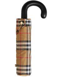 Burberry ヴィンテージチェック折り畳み傘 - マルチカラー