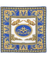 Versace - Printed Silk Twill Scarf - Lyst