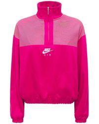 Nike Sweatshirt Aus Technostoff Mit Logo - Pink