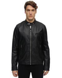 Schott Nyc Zip-up Leather Jacket - Black