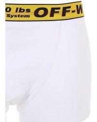 Off-White c/o Virgil Abloh 3er-pack Boxerslips Aus Baumwollmischung - Weiß