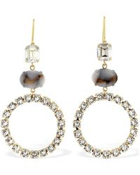 Isabel Marant Boy G Stone Crystal Small Hoop Earrings - Multicolor