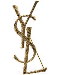 Saint Laurent Ysl Monogram-stecker - Mettallic