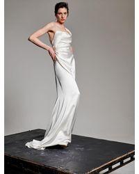 Vivienne Westwood Heavy Silk Satin Minerva Dress - White