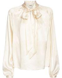 Temperley London シルクシャツ - ホワイト