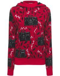 Saint Laurent Свитер Из Смешанной Шерсти - Красный