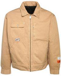 Heron Preston Uniform コットンジップワークジャケット - ナチュラル