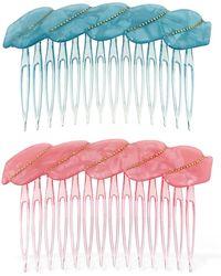 Valet Studio Set Of 2 Melody Hair Combs - Mehrfarbig