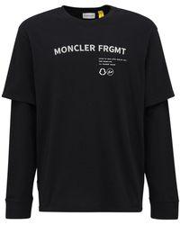 Moncler Genius Fragment ジャージー長袖tシャツ - ブラック