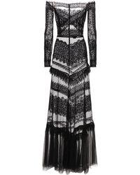 Zuhair Murad - Длинное Платье Jatuarana С Кружевом - Lyst