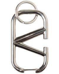 "Valentino Garavani Valentino garavani porte-clés en métal ""v logo"" - Métallisé"